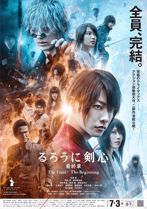New Live-action Rurouni Kenshin films reveals new key visual, additional cast members