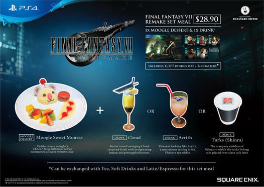 COVID-19 Measures Limit FINAL FANTASY VII REMAKE CAFÉ IN SINGAPORE to Takeaway and Delivery Only