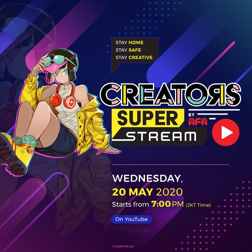 """Creators Super Fest"" Launches Online Event ""Creators Super Stream""!"