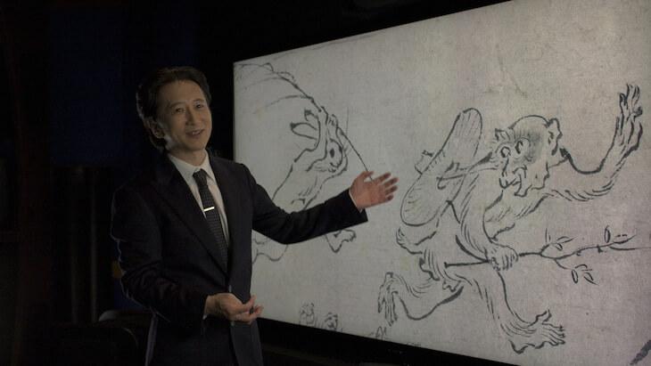 """Hirohiko Araki Guest Stars in NHK Documentary on Oldest Manga """"Choujuu Jinbutsu Giga"""""""
