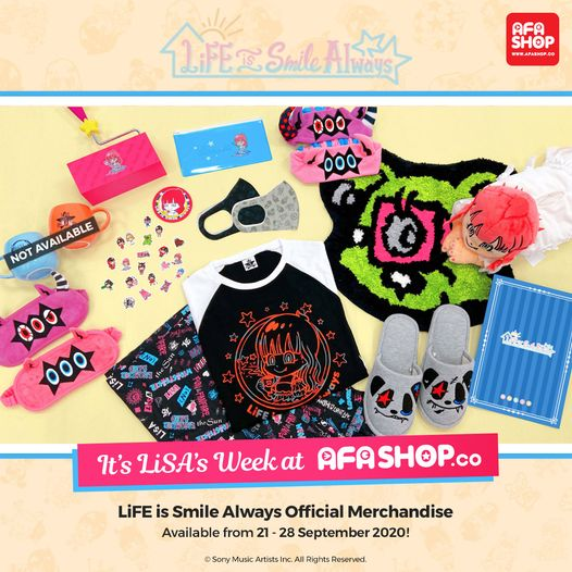 "Get LiSA's Apparel and Lifestyle Line ""LiFE is Smile Always"" Only on AFASHOP.co!"