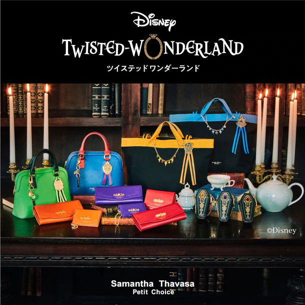 "Disney's ""Twisted Wonderland"" Teams Up with Designer Bag Brand ""Samantha Thavasa"""