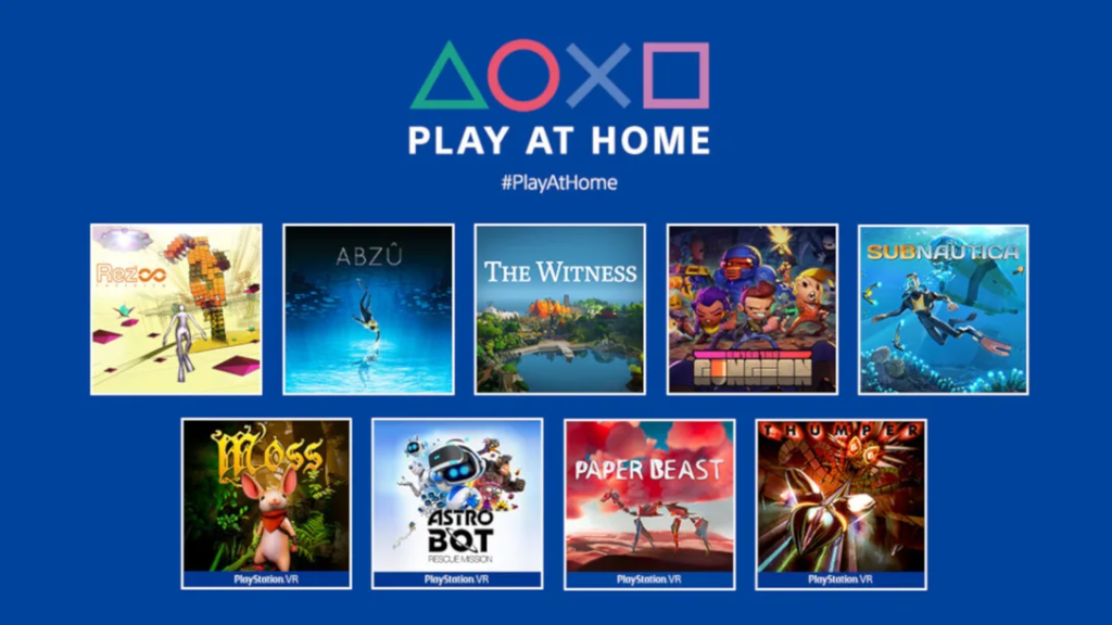 """""""Play at Home 2021"""" Offers 10 Free Games for the PlayStation Community on 25th March!"""