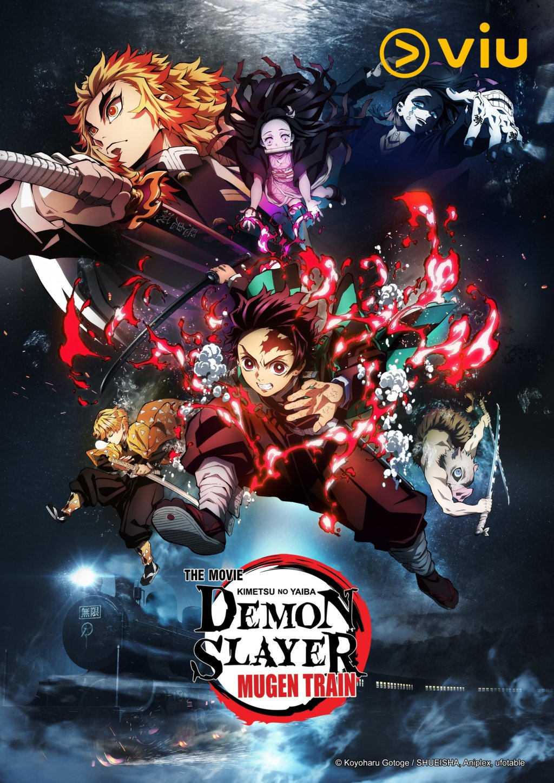 """""""Demon Slayer – Kimetsu no Yaiba – The Movie : Mugen Train"""" Heads to Streaming Platform Viu!"""