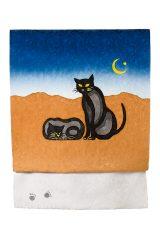 Obi(kimono sash):Black cat:Reference work