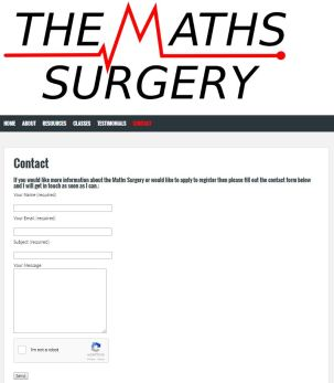 Contact Page with reCAPTCHA