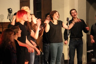 a cappella flash mob