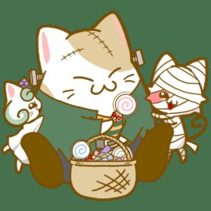 お菓子を配るフランケン