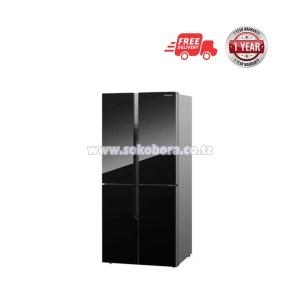 Hisense-Black-Glass-Four-Doors-Refrigerator-432L