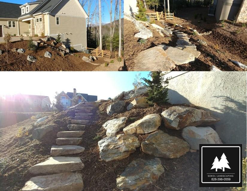 Boulder Accent Asheville Landscaping
