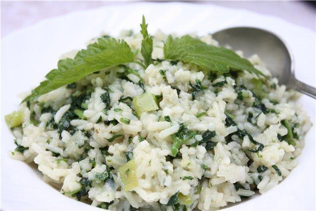 Крапива с рисом