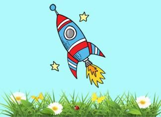 Ракета и травинка