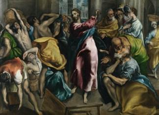 Изгнание торгующих из храма (Эль Греко, до 1570 года)
