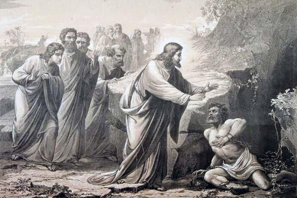 Иисус Христос исцеляет бесноватого