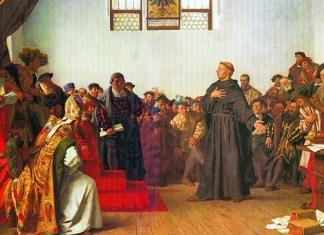 Мартин Лютер и папа римский - противостояние