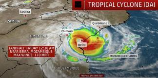 ADRA реагирует на «чрезвычайно опасный» тропический ураган Идай