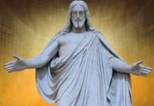 Скульптура, опустившая руки