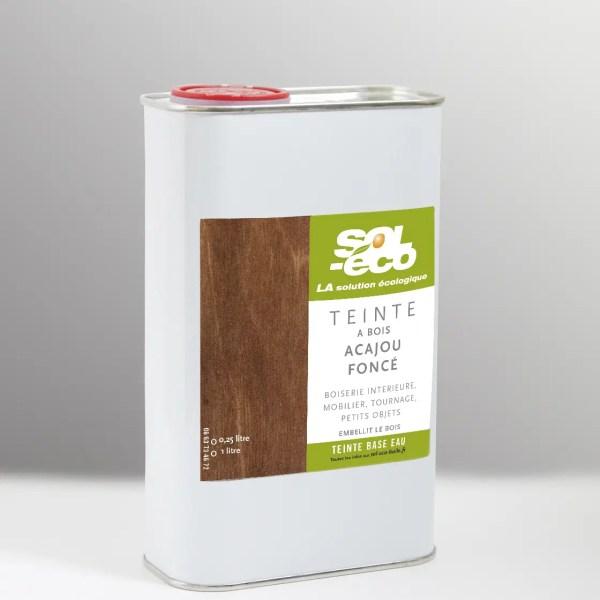 teinte à bois acajou foncé en bidon acier recyclable
