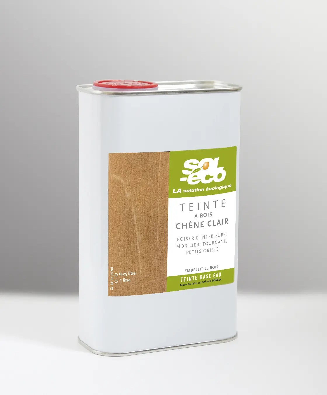 teinte à bois chêne clair en bidon acier recyclable