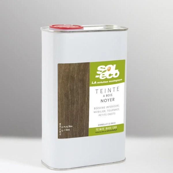 Teinte à bois ton noyer en bidon acier recyclable