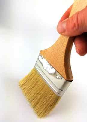 pinceau large 80mm à manche en hêtre vernis