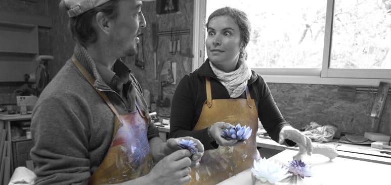 Sophie et Guillaume Le Penher créateurs de la boutique Sol-éco