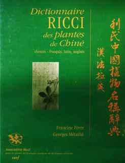 couverture du dictionnaire Ricci des plantes de Chine