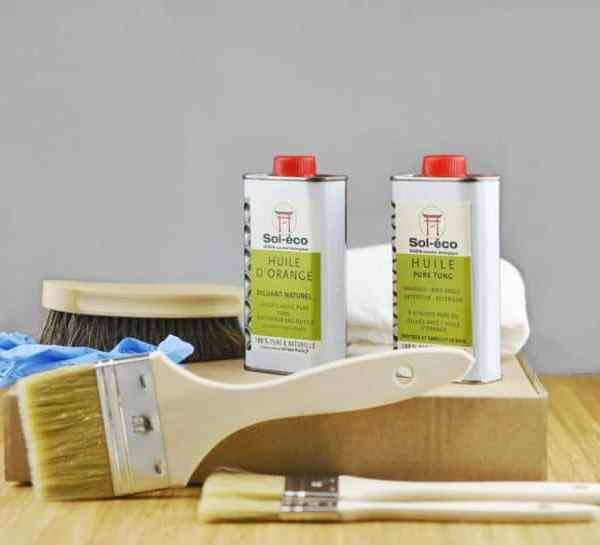 coffret de démarrage (huile pour bois et accessoires)