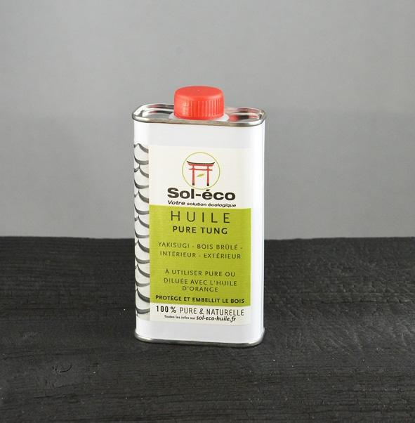 bidon d1/4 de litre d'huile de tung pure