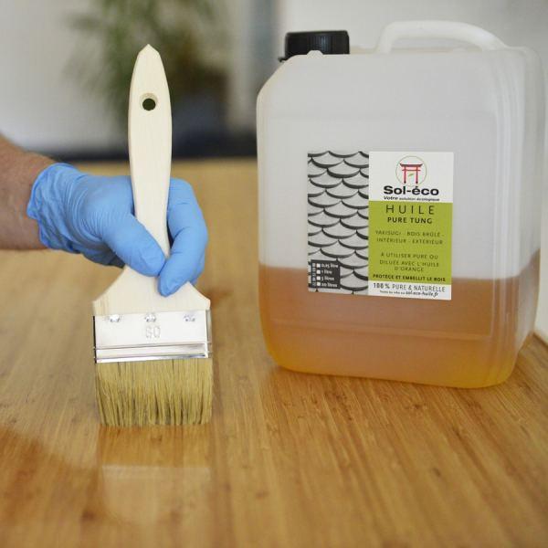 application de l'huile à l'aide du Pack complet