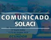 Comunicado | Suspensión de las XL Jornadas SOLACI en Manta, Ecuador