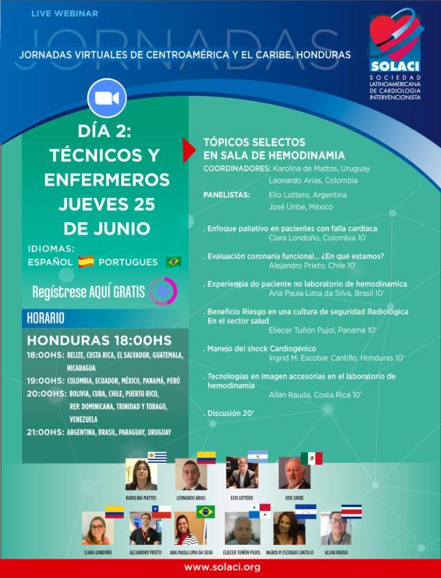 Jornadas Virtuales Honduras - 25/06 - Tópicos en la Sala de Hemodinamia