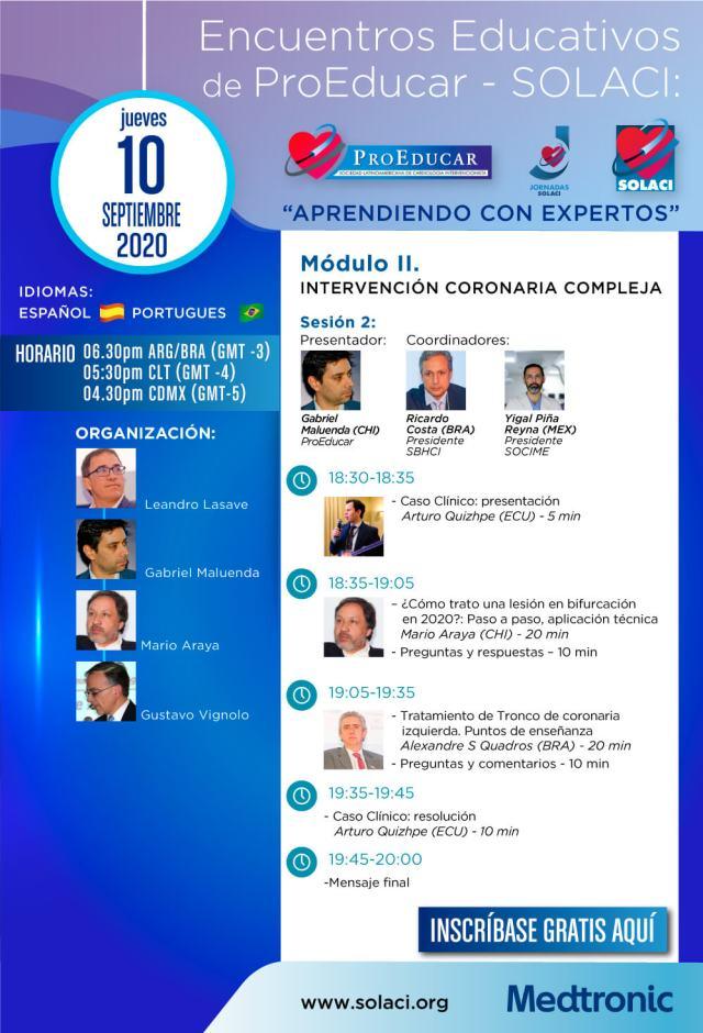 4° Encuentro Educativo ProEducar - Intervención COronaria Compleja