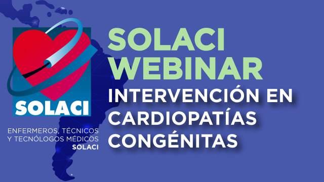 Webinar SOLACI - Intervención en Cardiopatías Congénitas portada