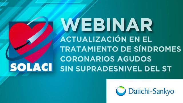 Webinar SOLACI | Actualización en el tratamiento de sindromes coronarios agudos sin supradesnivel del segmento ST
