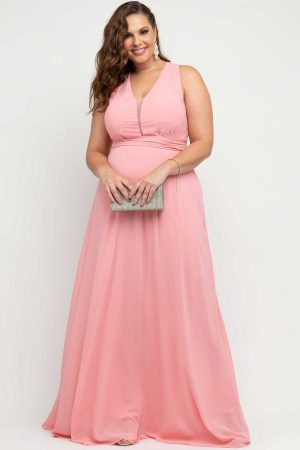 VESTIDO DE FESTA COSTA X ROSE PLUS SIZE