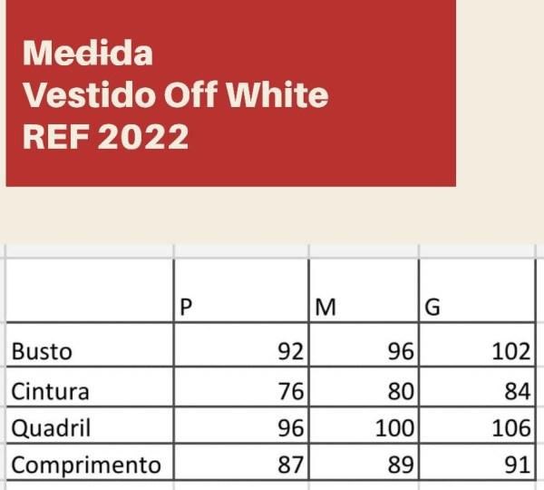 VESTIDO BABADO OFF WHITE JEANS