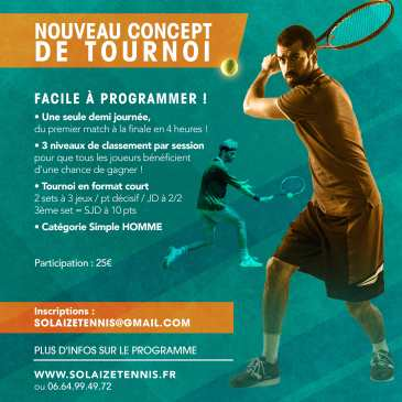 Inscriptions: Tournoi – Solaize Tennis Sessions