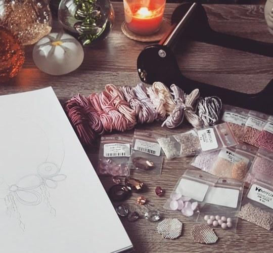 ma méthode de création bijoux en soutache brodé solalbijoux