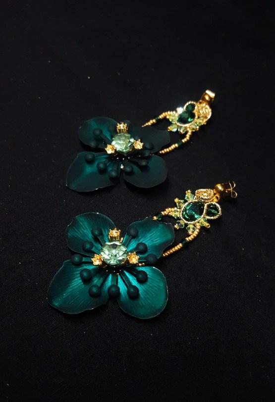 Solal Bijoux Haute Fantaisie boucles d'oreilles vert