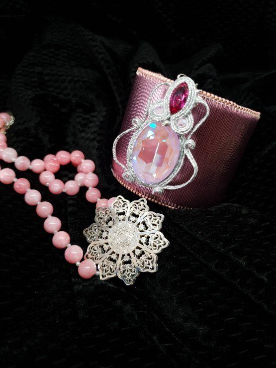 Solal Bijoux Haute Fantaisie bijou nomade rose et argent