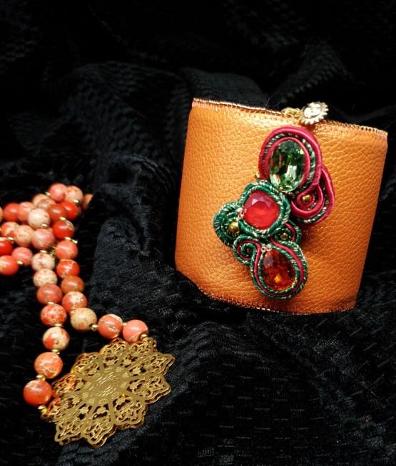 Solal Bijoux Haute Fantaisie bijou nomade + manchette avec manchon réversible + collier aimanté en perles