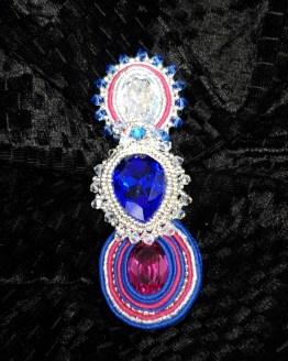 Solal Bijoux Haute Fantaisie bijou nomade bleu, rose et argent