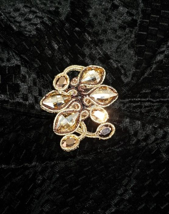 Solal Bijoux Haute Fantaisie bijou nomade brun et doré