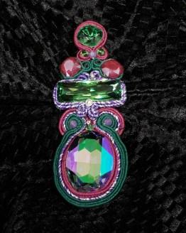 Solal Bijoux Haute Fantaisie bijou nomade mauve et vert