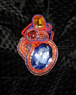 Solal Bijoux Haute Fantaisie bijou nomade mauve, rouge et cuivré