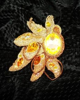 Solal Bijoux Haute Fantaisie bijou nomade soleil jaune orange doré et cuivré