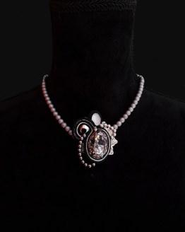Solal Bijoux Haute Fantaisie collier aimanté en perles d'hématite gris et bijou nomade noir et argent
