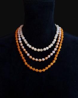 Solal Bijoux Haute Fantaisie collier de perles en verre et jade jaune