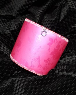Solal Bijoux Haute Fantaisie manchette manchon réversible rose et imprimé floral